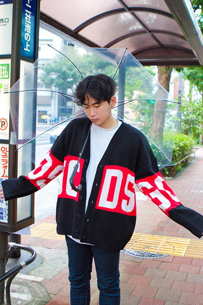 outer1114. GCDS color line cardigan [3color]